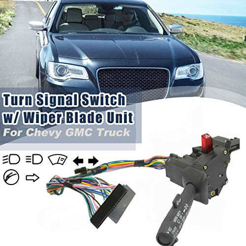 Wiper Dimmer (Samoii Fast USA Shipping, Car Accessories Cruise Control Windshield Wiper Arm Turn Signal Lever Switch for Chevy GMC Truck Car)