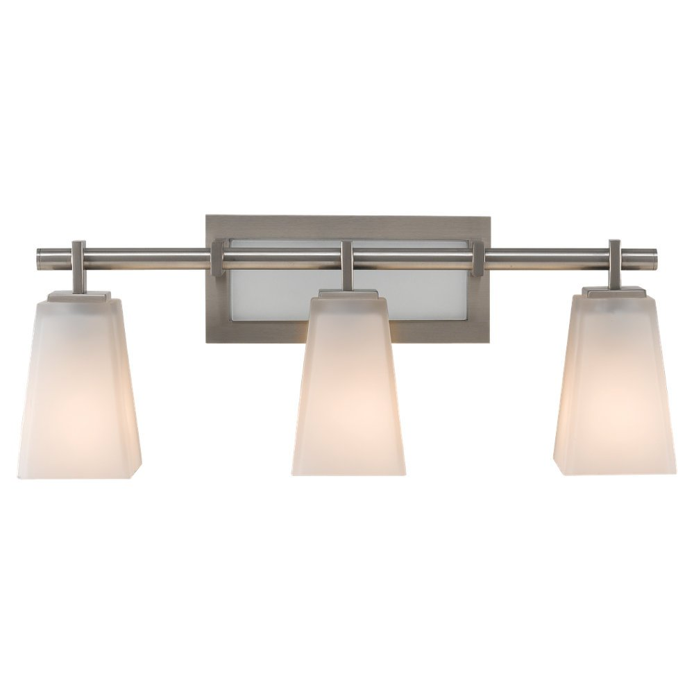 Feiss VS16603-BS 3-Bulb Vanity Light Fixture Brushed Steel Finish - Lighting Products - Amazon.com  sc 1 st  Amazon.com & Feiss VS16603-BS 3-Bulb Vanity Light Fixture Brushed Steel Finish ... azcodes.com