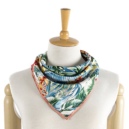 M Picchu Silk Like Scarf Women's Fashion Patter...