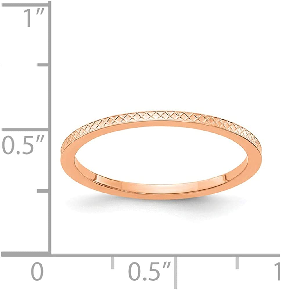 Perfect Jewelry Gift 14KW 2.5mm Half Round Band Size 7