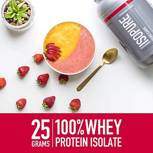 Polvo de proteína baja en carbohidratos Isopure, 100% de aislado de proteína de suero de leche, Amigable con Keto, Sabor: Chocolate holandés, 1 libra (el empaque puede variar)