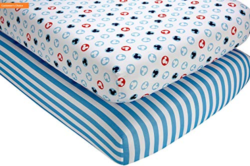 Saver Shelves Reflections Space - Mikash New Soft Mickey Mouse Crib Sheet Set, 2 Count   Style 84599750