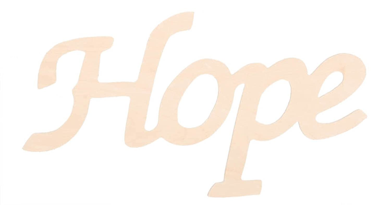 Darice 9110 33 Wood Script Word Hope