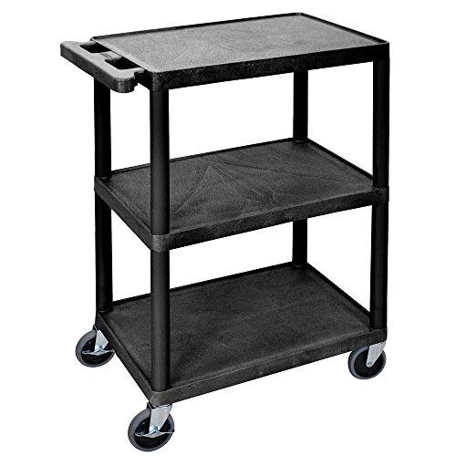3 Shelf Utility Cart, Black ()
