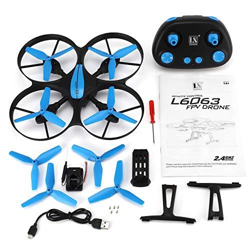 8Eninine L6063 4CH RC Drohne Quadcopter Höhenstand halten mit 720P Weitwinkelkamera One Key Return Blau