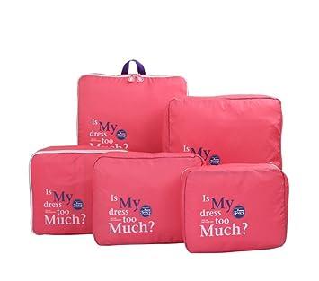 Bolsas de Almacenamiento de Viaje, 5pcs Cubos de Embalaje ...