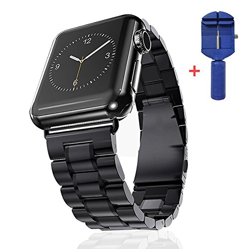 Apple Watch Band, JZxin Stainless Steel 42mm Replacement Band Link Bracelet Strap Classic iWatch Wristband with Double Button for Apple Watch 42mm Version