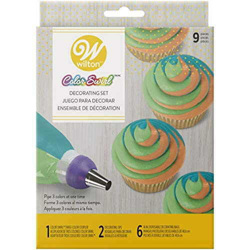 (Wilton Color Swirl, 3-Color Piping Bag Coupler, 9-Piece Cake Decorating)