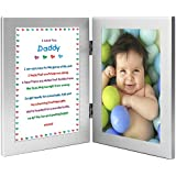 New Dad Gift - Sweet Poem for Daddy in Double Frame - Add Photo