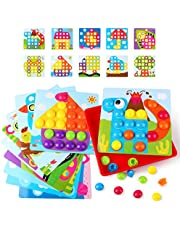 KIDCHEER Toddler Toys for Boys & Girls Educational Baby Gifts Color Matching Pegboard Montessori Learning Arts and Crafts Puzzle for Kids