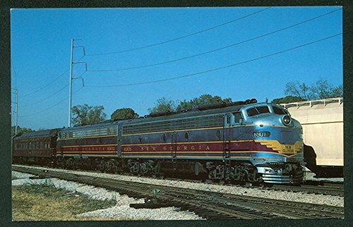 New Georgia Diesel Electric Locomotive EMD E-8 Units Train Railroad Postcard