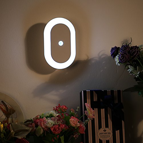 Smart LED Motion Activated Sensor Night Light - Toilet, Bathroom, Closet, Stairways, Basement and Baby Room Light