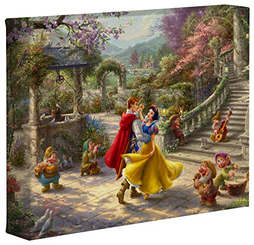 Thomas Kinkade Studios Disney Snow White Dancing in The Sunlight 8
