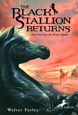 book cover of The Black Stallion Returns