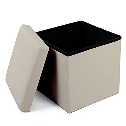Foot Stools And Ottomans Small Leather Folding Organizer Storage Ottoman  Bench Footrest Stool Coffee Table Cube