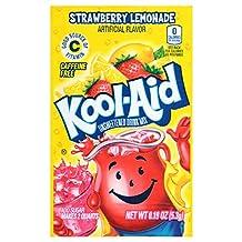 Kool-Aid Soft Drink Mix, Unsweetened, Strawberry Lemonade, 0.19 oz (Pack of 192)