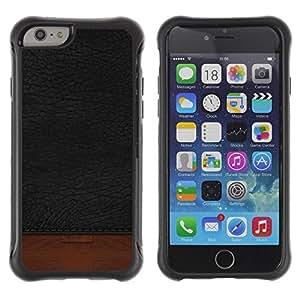 LASTONE PHONE CASE / Suave Silicona Caso Carcasa de Caucho Funda para Apple Iphone 6 PLUS 5.5 / Black Texture Brown Dark