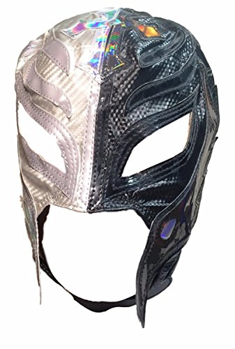 WWE REY MYSTERIO Youth Size Half Black Half Silver Replica MASK (Rey Mysterio Wwe)