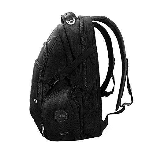 Suissewin big business travel outdoor mountain climbing computer backpack(SW9275I) (Black) by Swisswin (Image #2)
