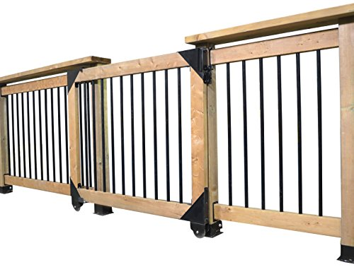 Pylex 11052 Sliding gate kit, Black