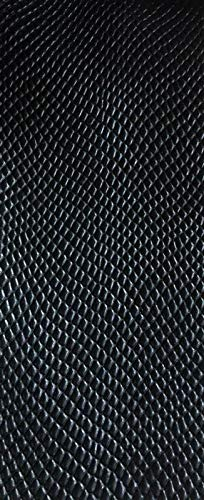 LUVFABRICS Cobra Snake Print Texture Embossed Faux Leather Vinyl Upholstery Fabric by The Yard 54 Inches Wide ()