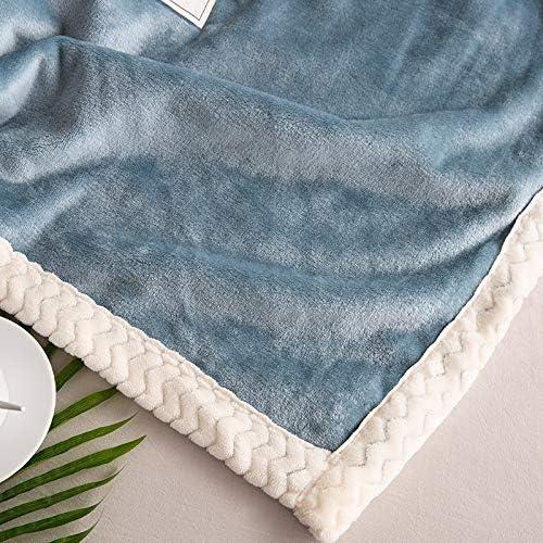 LMJ Outsider Couverture climatiseur, A côté Falais B côté climatiseur Loisirs Couverture en Cachemire de crustacés Bleu 150 * 200cm1.9kg