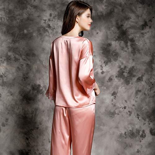Mujer Seda Loungewear Pijamas Para Dormir 02 xxl Ropa X Felicipp Size L color Conjunto Satén 02 De nIwqxppYHC