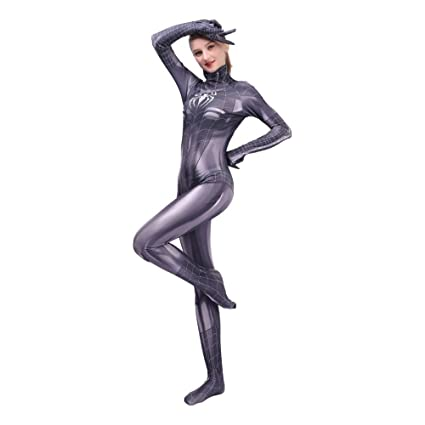 KYOKIM Disfraz De Spiderman De Las Mujeres De Halloween ...