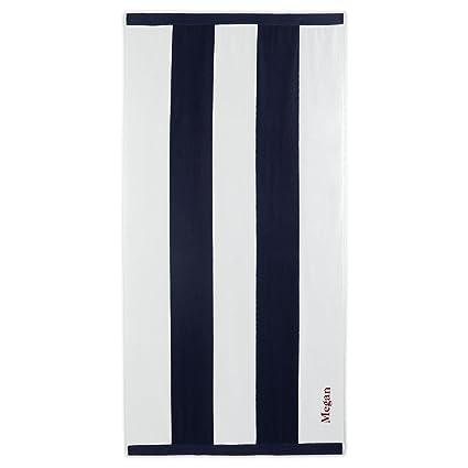 Lands End Beach Towels.Lands End Vertical Rugby Stripe Beach Towel White Stripe