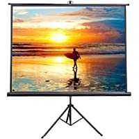 VIVO 84 Portable Indoor Outdoor Projector Screen, 84 Inch Diagonal Projection HD 4:3 Projection Pull Up Foldable Stand Tripod (PS-T-084)