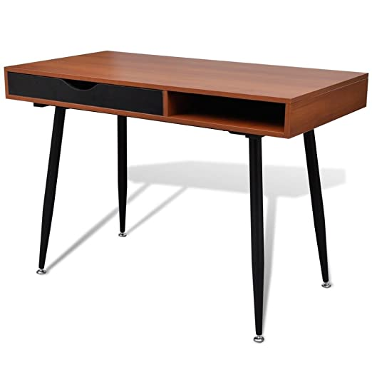 Roderick Irving - Mesa de Trabajo para Ordenador, Color marrón ...