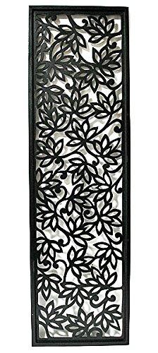 壁掛け木彫りのレリーフ C ロータス花模様 ブラック120 [並行輸入品] B01MUL2ZYI