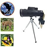 Monocular Telescope Digital-kingdom 35X50 Outdoor Portable Wide-angle Monoculars Zoom Lens Night Vision Travelling Telescope with Tripod Cell Phone Holder for Hunting Camping Birds Watching