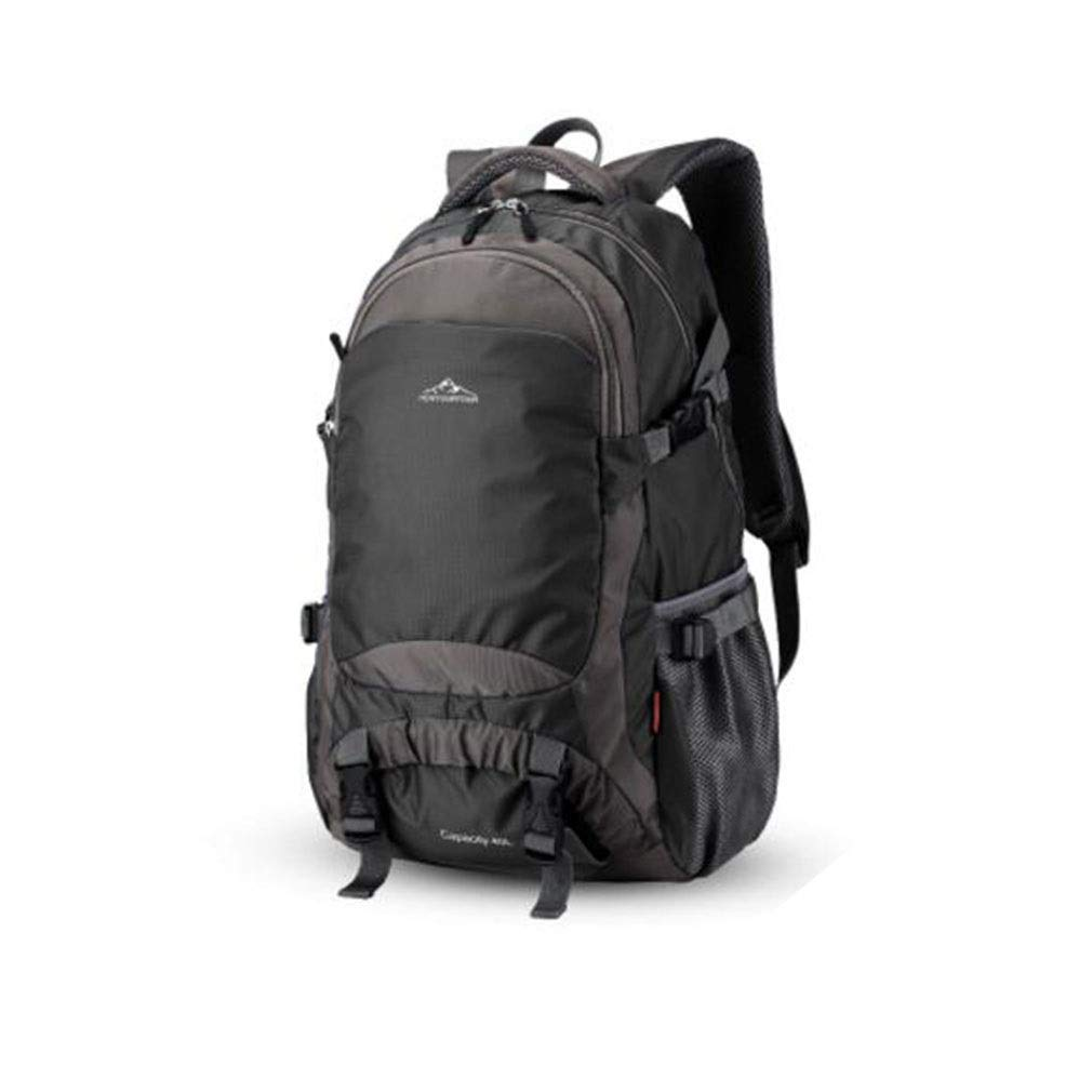 Color : Black CHBAOZI Camping Mountaineering Bag Large Capacity Backpack Travel Bag Female Mountaineering Bag Male Outdoor Leisure Travel Bag Mountaineering Sports Bag Multi-Color Optional 342055cm