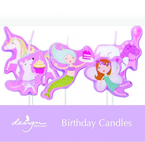 (Design Design 758-08918 Fantastical Sculpted Birthday Candles, Multicolor )