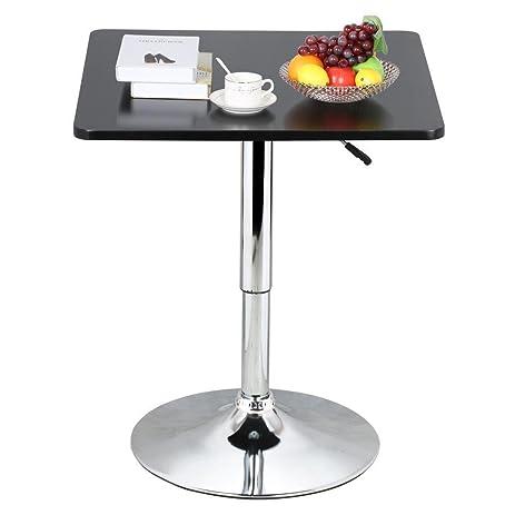 Adjustable 35u201d Black Square Pub Bar Bistro Table Indoor Outdoor Patio  Restaurant