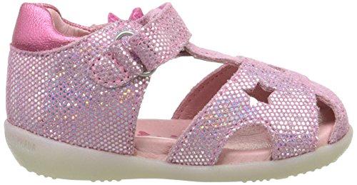 Agatha Ruiz de la Prada Stara - Zapatos de primeros pasos Bebé-Niños Rosa - Rose (C Cheiw Serraje Laminado)