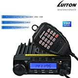 LUITON LT-590 VHF 60W/25W/10W Two-Way Radio Base Mobile Transceiver Amateur Ham Radio with Free Programming Cable(Black)