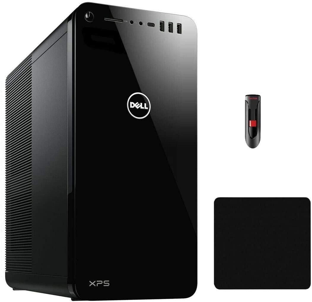 Latest_Dell XPS 8930 Desktop Tower Computer-Intel Core i7-9700, 16GB RAM, 256GB SSD + 2TB HDD, GeForce RTX 2060 6GB Graphics, WiFi + Bluetooth, HDMI, USB 3.1, Win 10-32GB USD Flash Drive + Mouse Pad