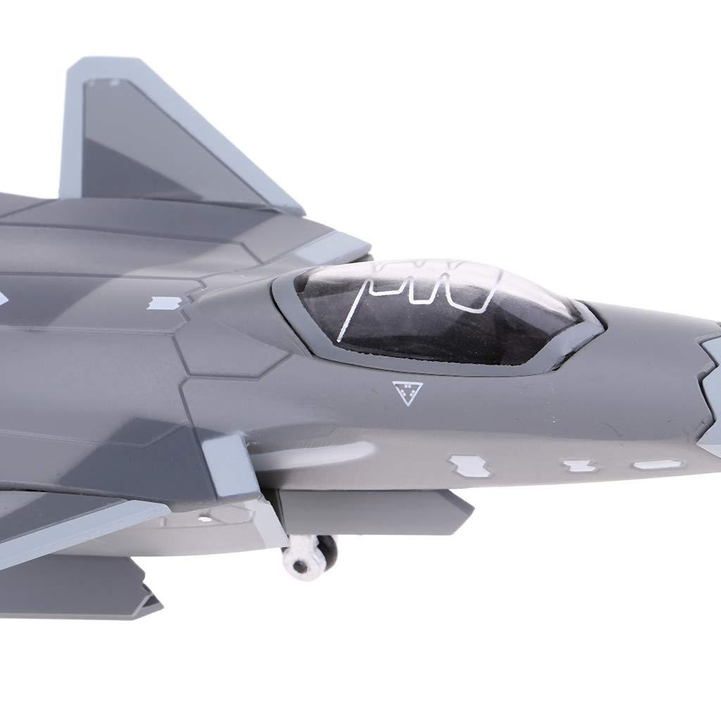 1 100 Plane Modelo Juguete Decoraci/ón Hogar Regalo 21x14x13cm B Blesiya Juguete Modelo de Avi/ón de Combate Escala J-20 Fighter Negro