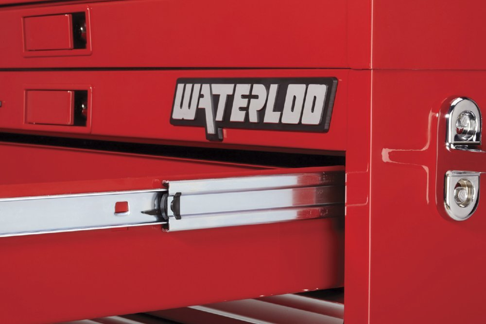 Waterloo PCA-36821RD Professional HD Series 8-Drawer Rolling Tool Cabinet, Red Finish, 36'' W by Waterloo (Image #3)