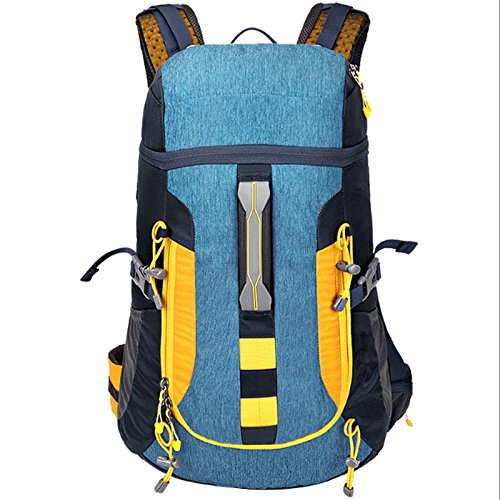 GJ バックパック - オフロードパッケージショルダーバックパックカジュアルトラベルパッケージバックパック通勤バッグ (色 : 青)  青 B07DV53T9D