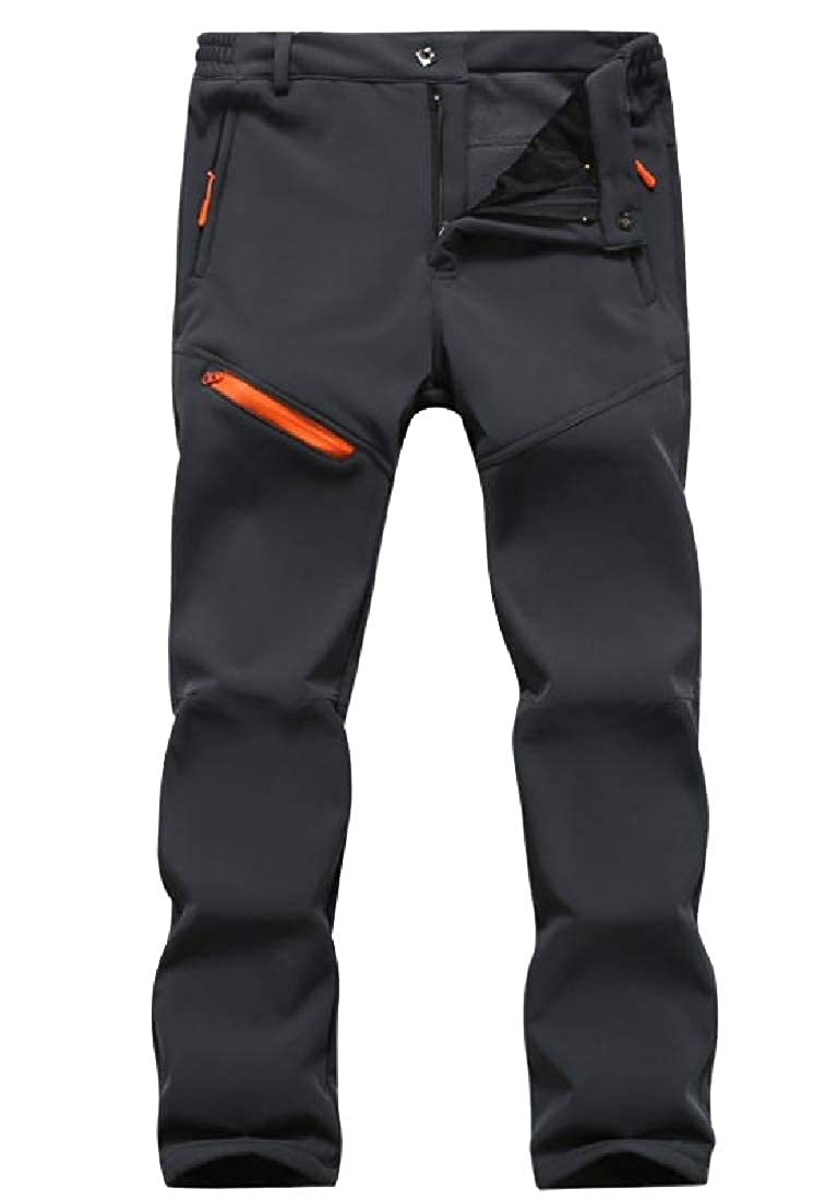 Zimaes-Men Large Size Fleece Lined Breathable Journalist/Long Pants
