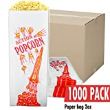 CASE of 1000 2 Ounce Movie Theater Popcorn Bags