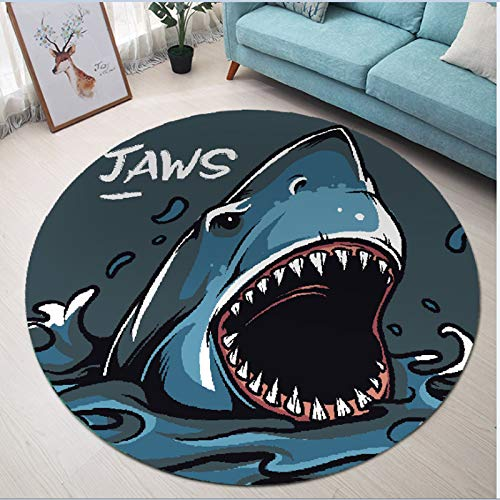 3 5.2X5.2ft Tacker Carpet European Classical Round Household Cartoon Anime 5 Ultra Soft Contemporary Fluffy Indoor Area Rugs 140cm-140cm