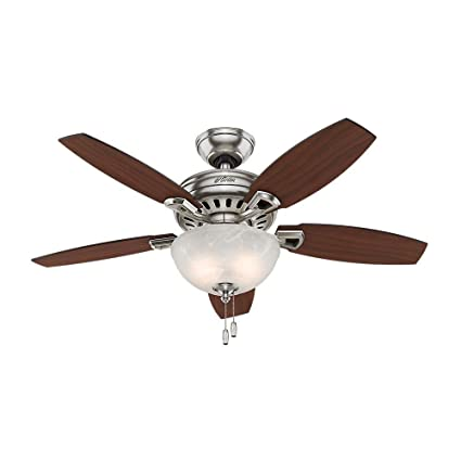 Hunter holden 44 in brushed nickel ceiling fan amazon hunter holden 44 in brushed nickel ceiling fan aloadofball Image collections