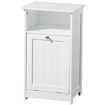 CLASSIC   Floor Standing Bathroom Storage Cabinet   White