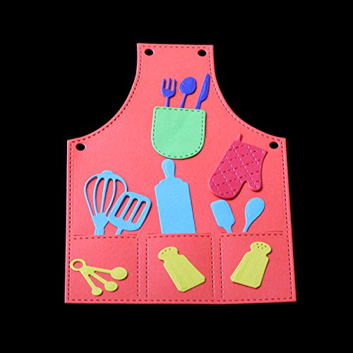 Dies Cut Cutting Die for Cards Apron Kitchenware Kitchen utensils Metal Embossing Stencils for DIY Craft Scrapbooking Photo Album Decorative Paper Gift Debossing Border