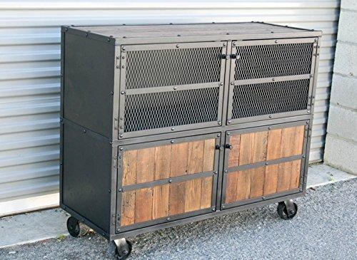 Incroyable Industrial Steel Liquor Cabinet. Reclaimed Wood.