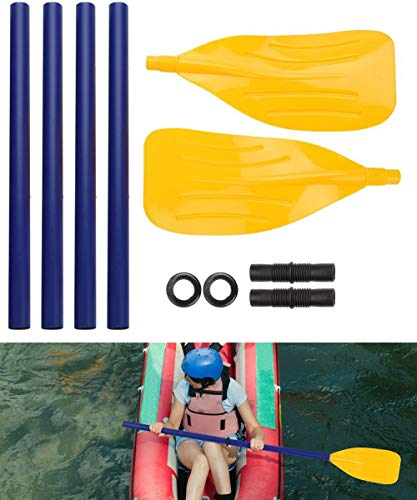 Jashem Boat Oars 2 Pieces Kayak Paddles Detachable Canoe Paddle Inflatable Boat PVC Oar Watersports Accessory